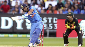 Rohit Sharma blasted 60 runs to set the platform for a big total for India. Reuters