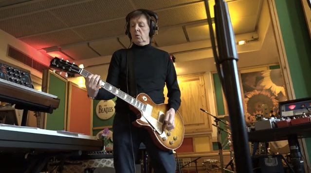 Sir Paul McCartney records in studio (Photo courtesy of TechRadar).