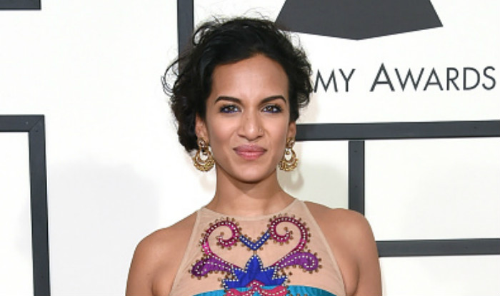Anoushka Shankar walks the red carpet at the 2016 Grammy Awards