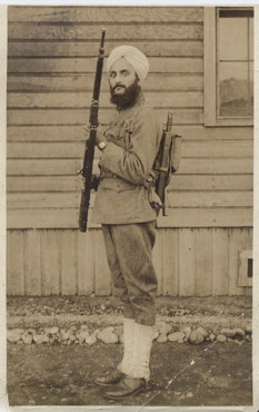 Bhagat Singh Thind in U.S. Army Uniform, Photo Courtesy South Asian American Digital Archive