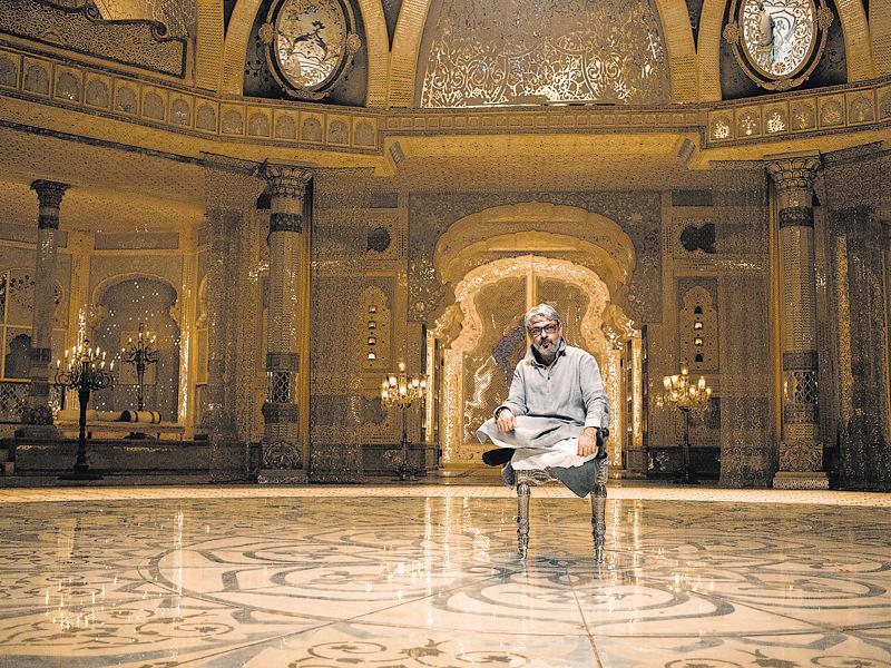 Director Sanjay Leela Bhansali on the sets of Bajirao Mastani
