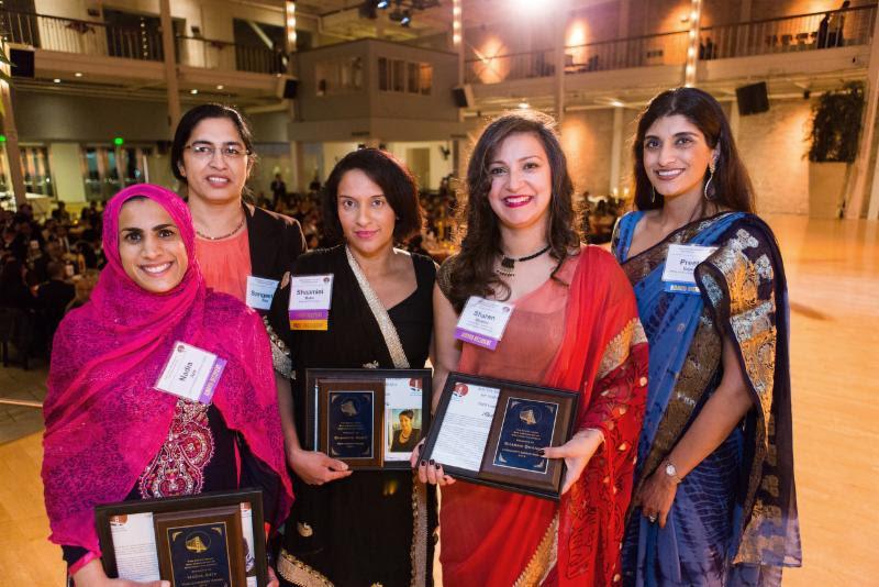 Award recipients at the 2016 South Asian Bar Association's annual gala. Photo courtesy John Curley