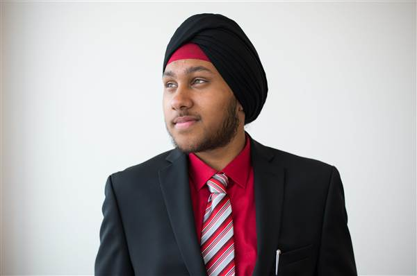 Private Arjan Singh Ghotra, Virginia National Guard, seeks to serve in the U.S. military with his articles of faith intact. Courtesy of The Sikh Coalition