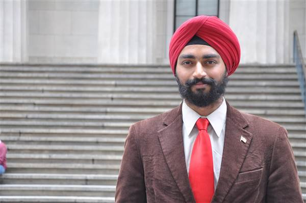 Specialist Kanwar Singh, Massachusetts Army National Guard, seeks to serve in the U.S. military without being forced to compromise his religion. Courtesy of The Sikh Coalition