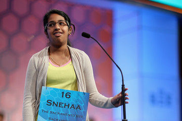 Snehaa Ganesh Kumar, an eighth-grader at Folsom Middle School, repeated her winning performance this year when she became the regional champion March 2 in the California Central Valley Spelling Bee finals for the second consecutive year. The Indian American youth tied for fourth place in the national competition last year. (Chip Somodevilla/Getty Images)