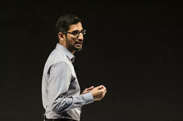 Sundar Pichai (Udit Kulshrestha—Bloomberg/Getty Images)
