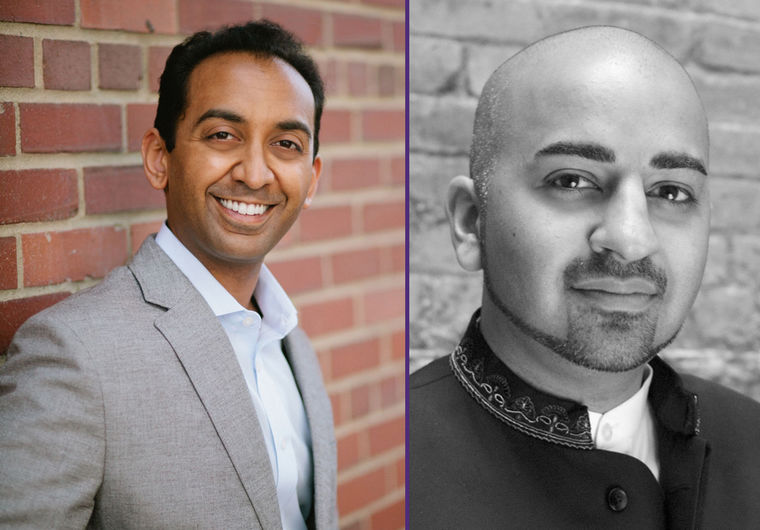 Indian American conductors Sameer Patel (left) and Ankush Kumar Bahl are the recipients of the 2016 Solti Foundation U.S. Career Assistance Award, which supports and promotes emerging young American conductors as they launch their classical careers. (Arielle Doneson; ankushbahl.com photo)