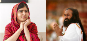 Malala Yousafzai & Sri Sri Ravi Shankar