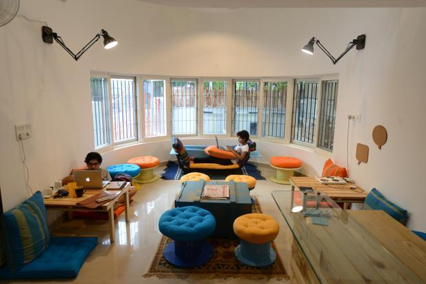 Construkt has a dizzying medley of colour in the lounge and dining area, and a lot of the furniture is recycled or upcycled.