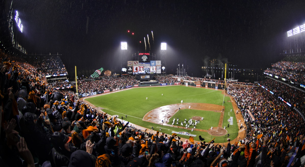 AT&T Park, home of the MLB's San Francisco Giants