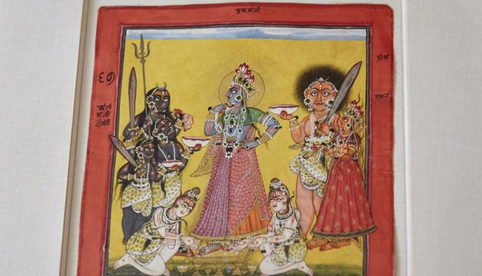'The Devi, in the Form of Bhadrakali, Adored by the Gods' (c. 1660-80).