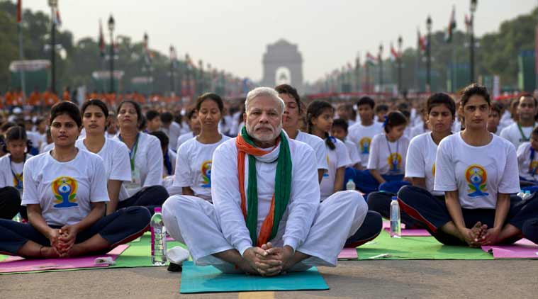 Prime Minister Modi at International Yoga Day