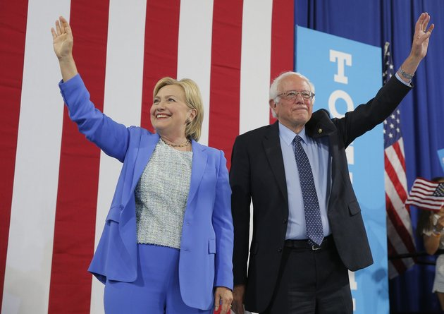 """Bernie Sanders endorsed Hillary Clinton on Tuesday, saying """"I intend to do everything I can to make certain she will be the next president of the United States."""""""
