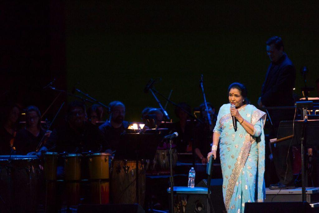 Asha Bhosle Performing at Vienna. Photo credit: Bryan Murphy, Wolf Trap.
