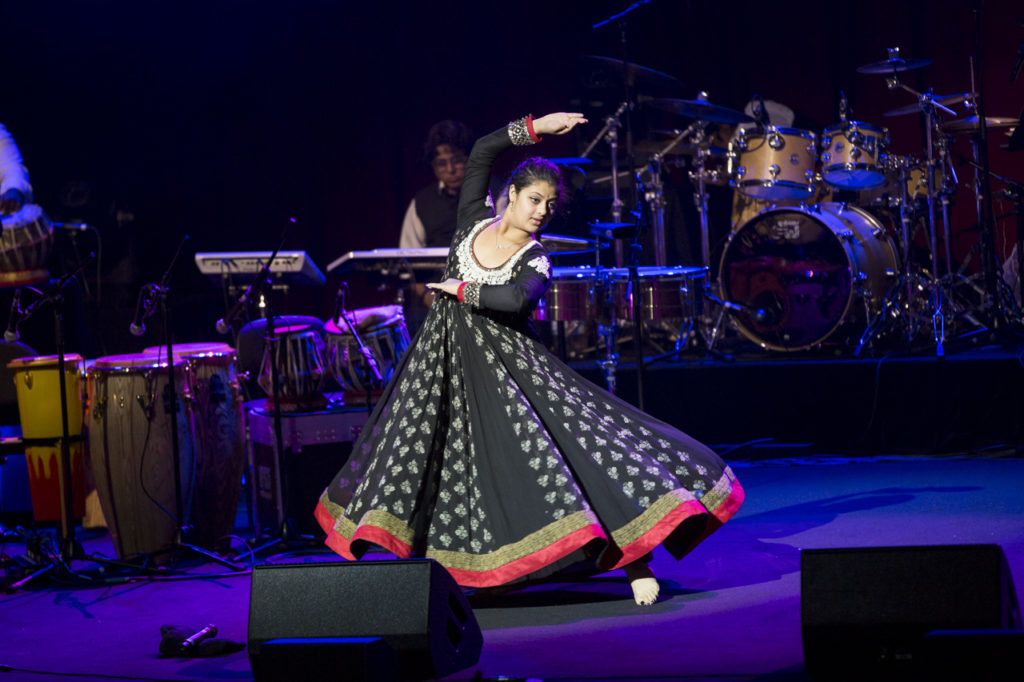 Zania Bhosle Performing Indian Classical Dance at the concert