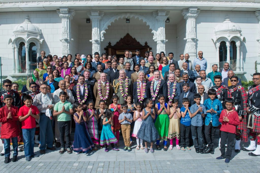 Armed forces celebrate Raksha Bandhan at Shree Swaminarayan Mandir in London. PC: www.swaminarayangadi.com