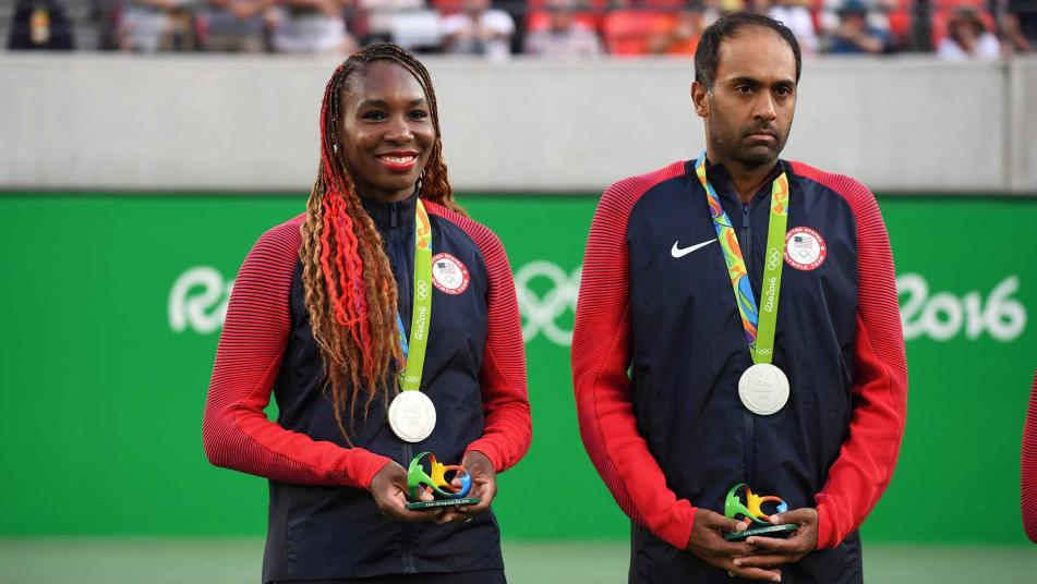 Venus Williams and Rajeev Ram won silver for the U.S. in mixed doubles at the Rio Games.