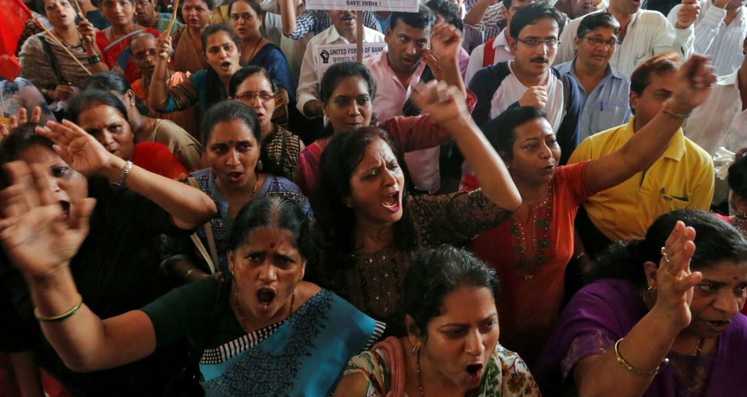 180 million workers in India went on strike Friday against the economic policies of Prime Minister Narendra Modi.