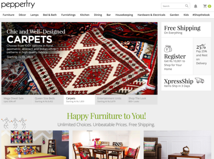 Pepperfry To Expand Online Furniture Sales Business In India