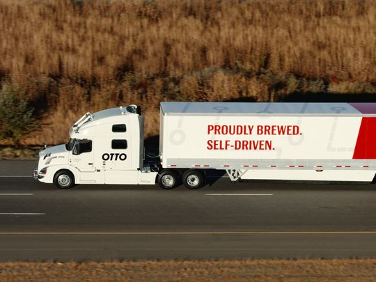 Uber's self-driving truck hauled beer 120 miles across the country successfully.