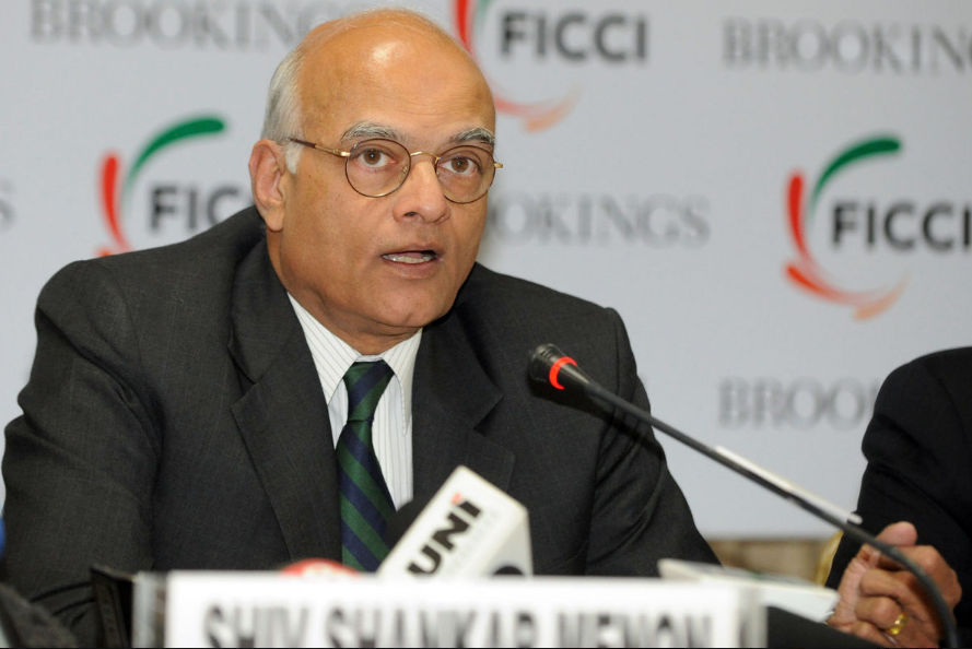 India's former national security advisor Shivshankar Menon.