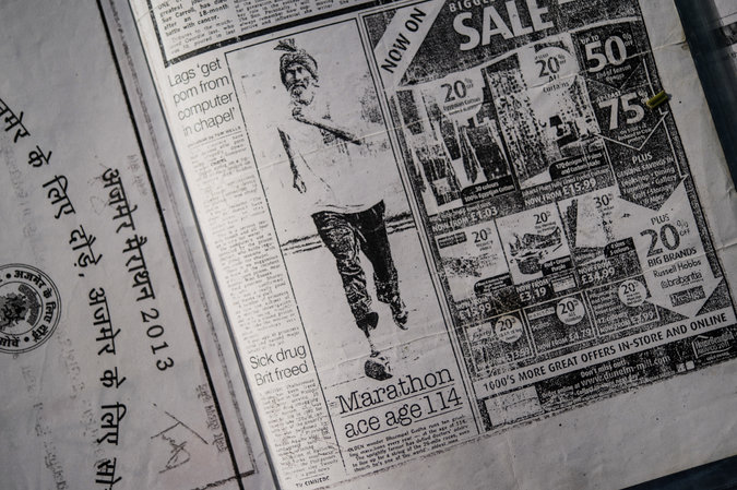 One of Singh's newspaper clippings. Photo courtesy of the New York Times.