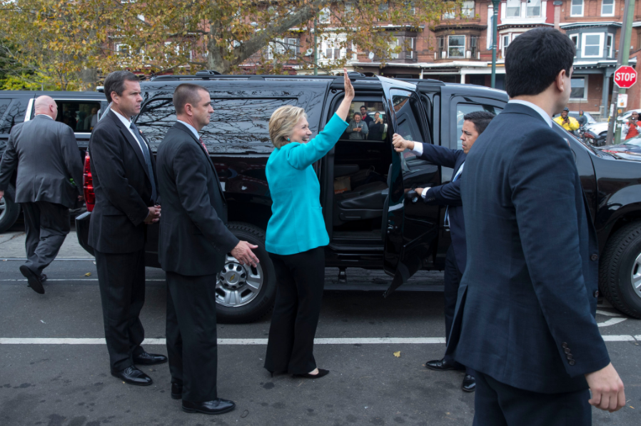 Hillary Clinton in Philadelphia on Sunday. The F.B.I. informed Congress on Sunday that it has not changed its conclusions about Mrs. Clinton's use of a private email server as secretary of state.