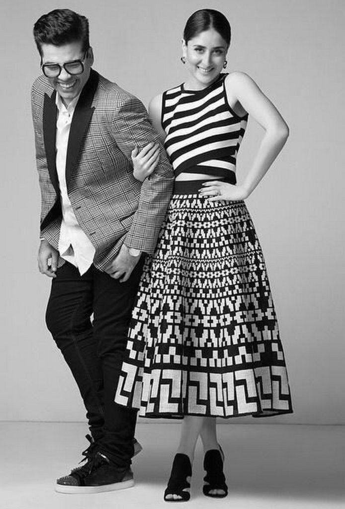 Kareena Kapoor Khan and Karan Johar enjoying at their Photoshoot