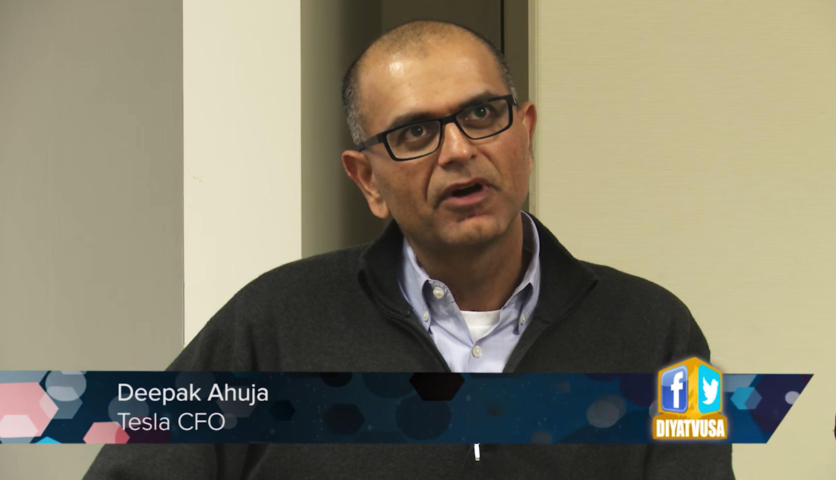 Deepak Ahuja, CFO Tesla