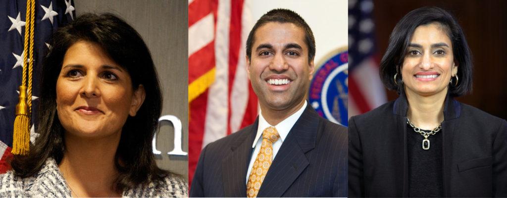 Nikki Haley, Ajit Pai, Seema Verma, three Indian Americans in Trump Administration