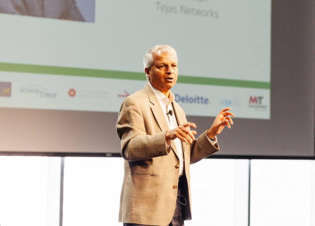 Desh Deshpande speaking at the MIT India conference 2016