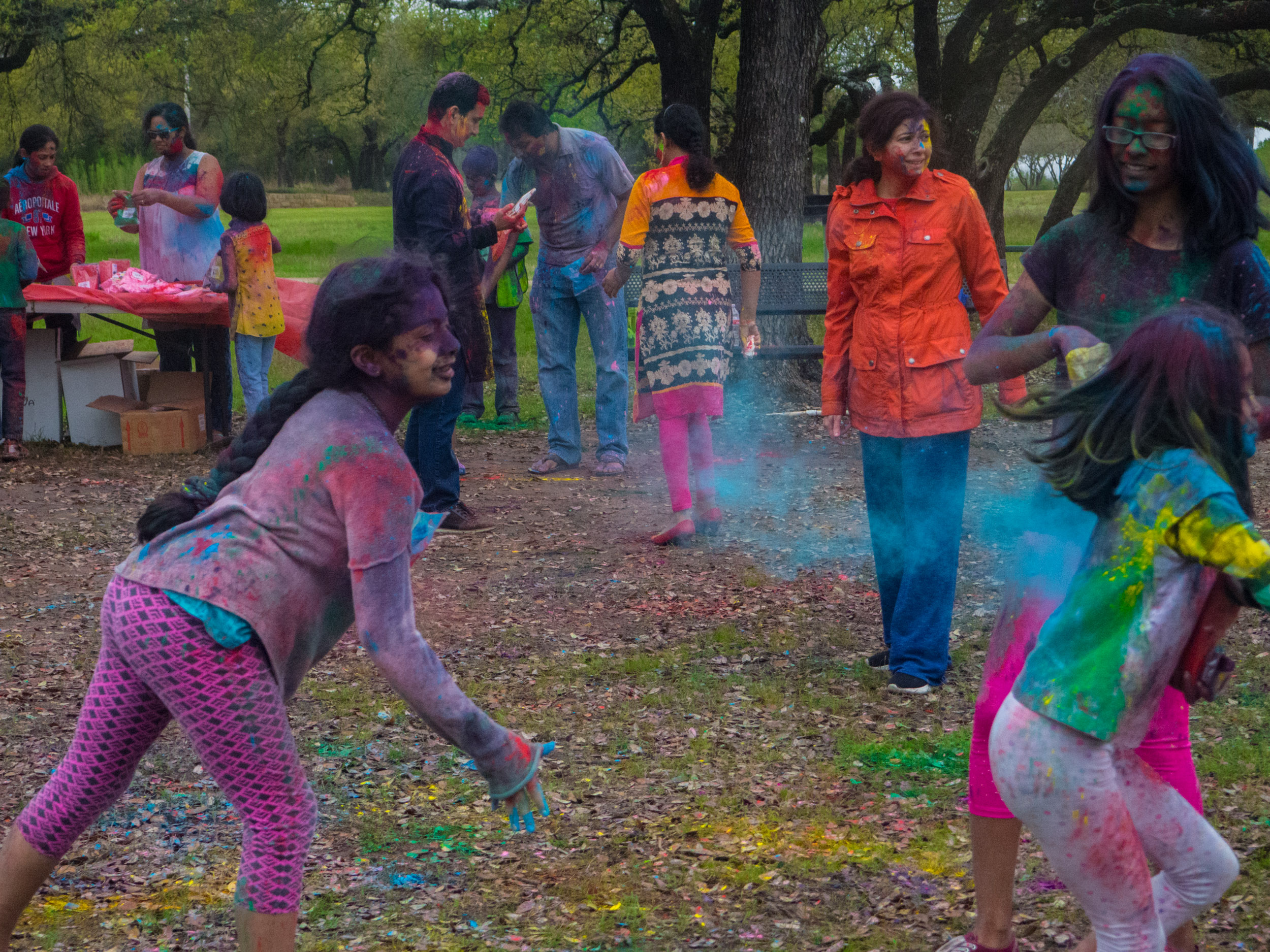 Holi celebrations at Radha Madhav Dham
