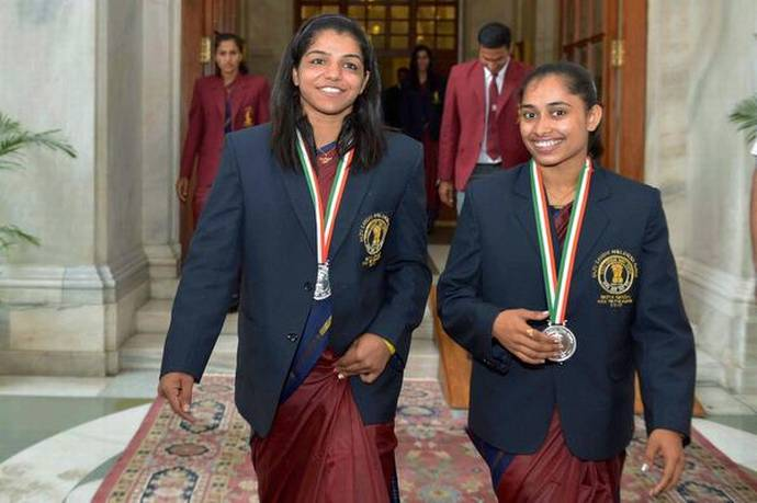 Dipa Karmakar and Sakshi Malik