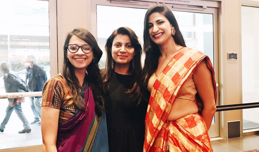Director/ Producer Shirley Abraham (Film: Cinema Travellers), Director Alankrita Shrivastava (Lipstick under my burkha), Actor Aahana Kumra (Lipstick under my burkha); names left to right
