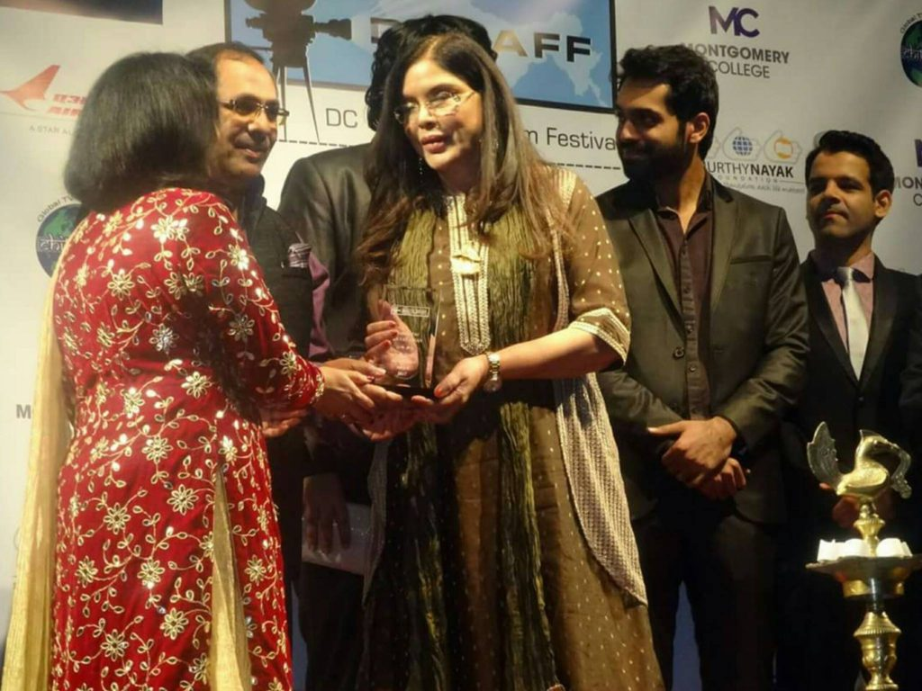 The South Asian Film festival featured a stellar list of stars, including yesteryear Bollywood star Zeenat Aman.