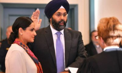 Gurbir Singh Grewal being sworn in as Bergen County Prosecutor in January 2017