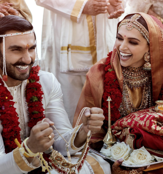 Deepika Padukone and Ranveer Singh getting married by Lake Cuomo in Italy. Seen here in there 'Konkani' Wedding Ceremony. Photo: Twitter.com