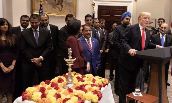 White House Diwali Diya Lighting ceremony.
