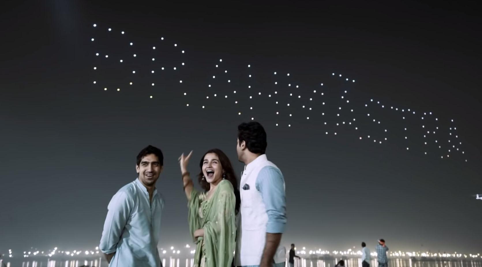 Director Ayan Mukerji, Alia Bhatt & Ranbir Kapoor at the Kumbh Mela for the logo launch of their new film Brahmastra