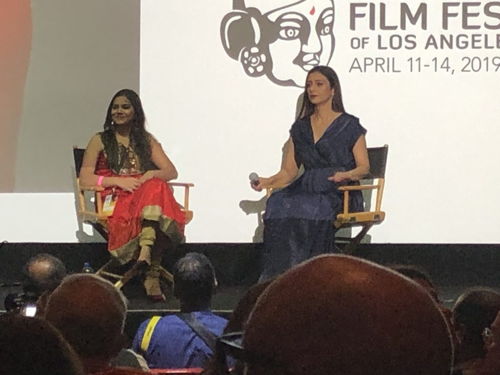 Actress Tabassum 'Tabu' in conversation before the opening night film Andhadhun at IFFLA