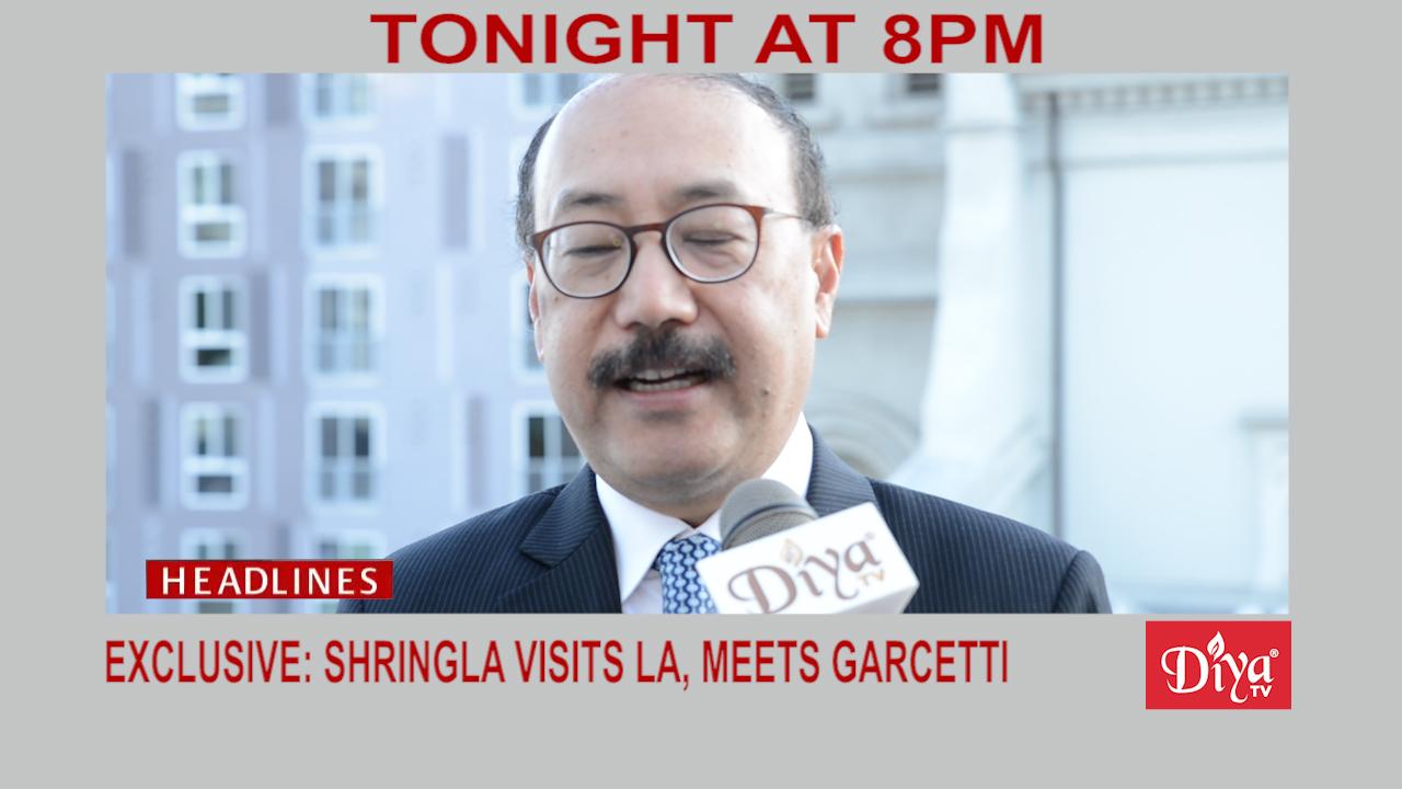 Shringla visits LA
