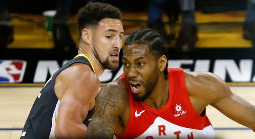 Warriors shooting guard Klay Thompson & Raptors small forward Kwahi Leonard