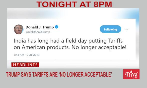 Tariffs no longer acceptable