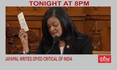Jayapal writes OP/ED critical of India | Diya TV News