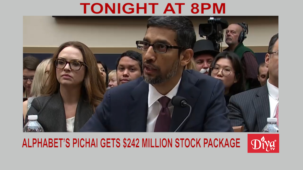 Alphabet's Pichai gets $242 million stock package | Diya TV News