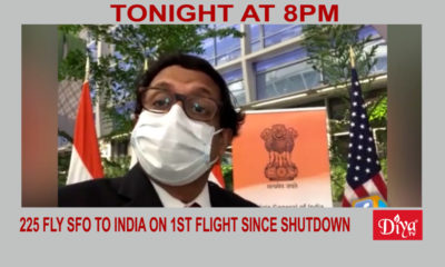 225 fly SFO to India on 1st flight since shutdown | Diya TV News
