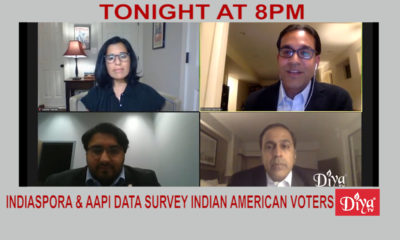 Indiaspora & AAPI data survey Indian American voters| Diya TV News