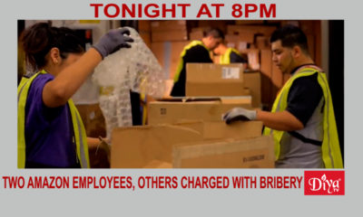 Two former Amazon employees, 4 others charged with bribery | Diya TV News