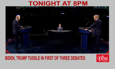 Biden, Trump tussle in first of three debates | Diya TV News