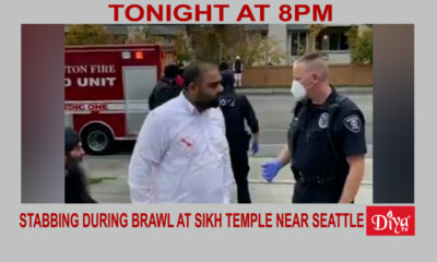 Man stabbed during brawl at Sikh temple near Seattle | Diya TV News